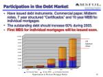 participation in the debt market