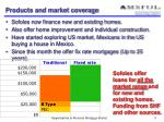 products and market coverage
