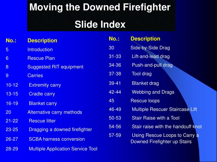 Moving the Downed Firefighter