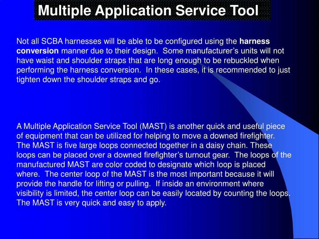 Multiple Application Service Tool