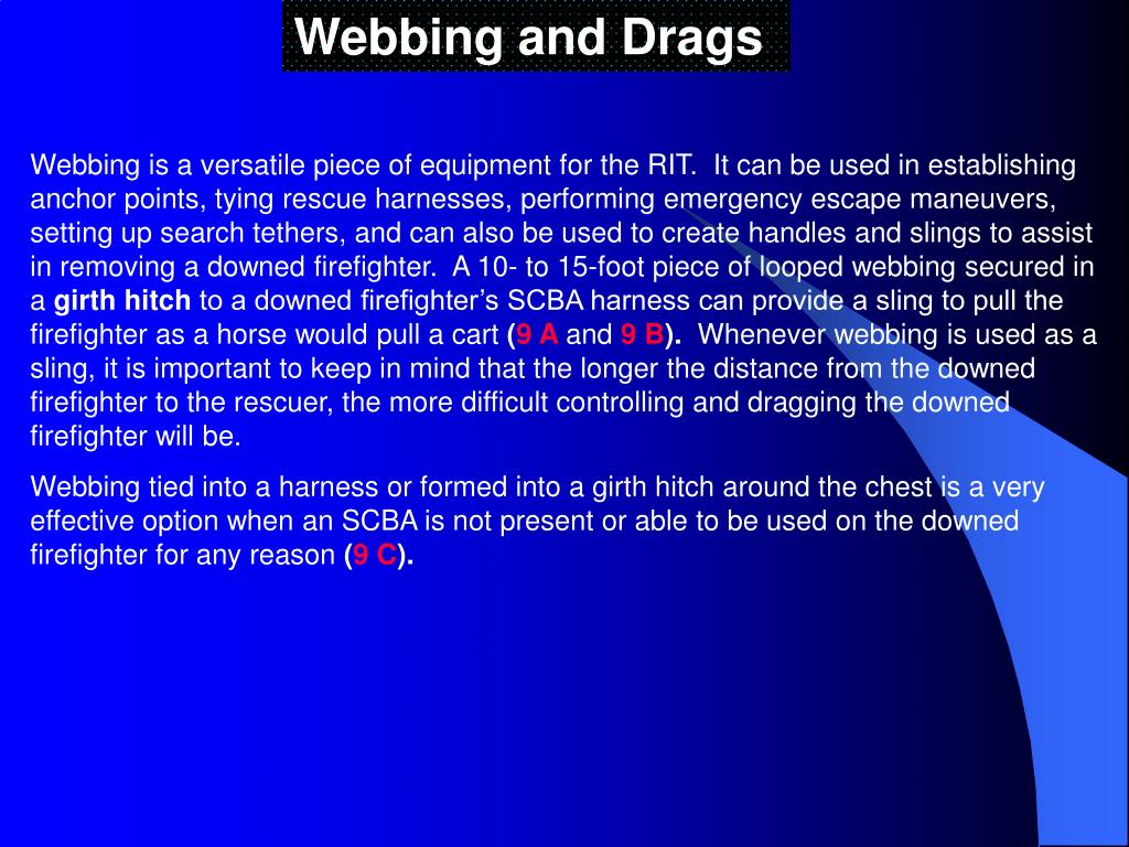 Webbing and Drags