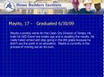 mayito 17 graduated 6 30 09