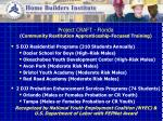 project craft florida c ommunity r estitution a pprenticeship f ocused t raining