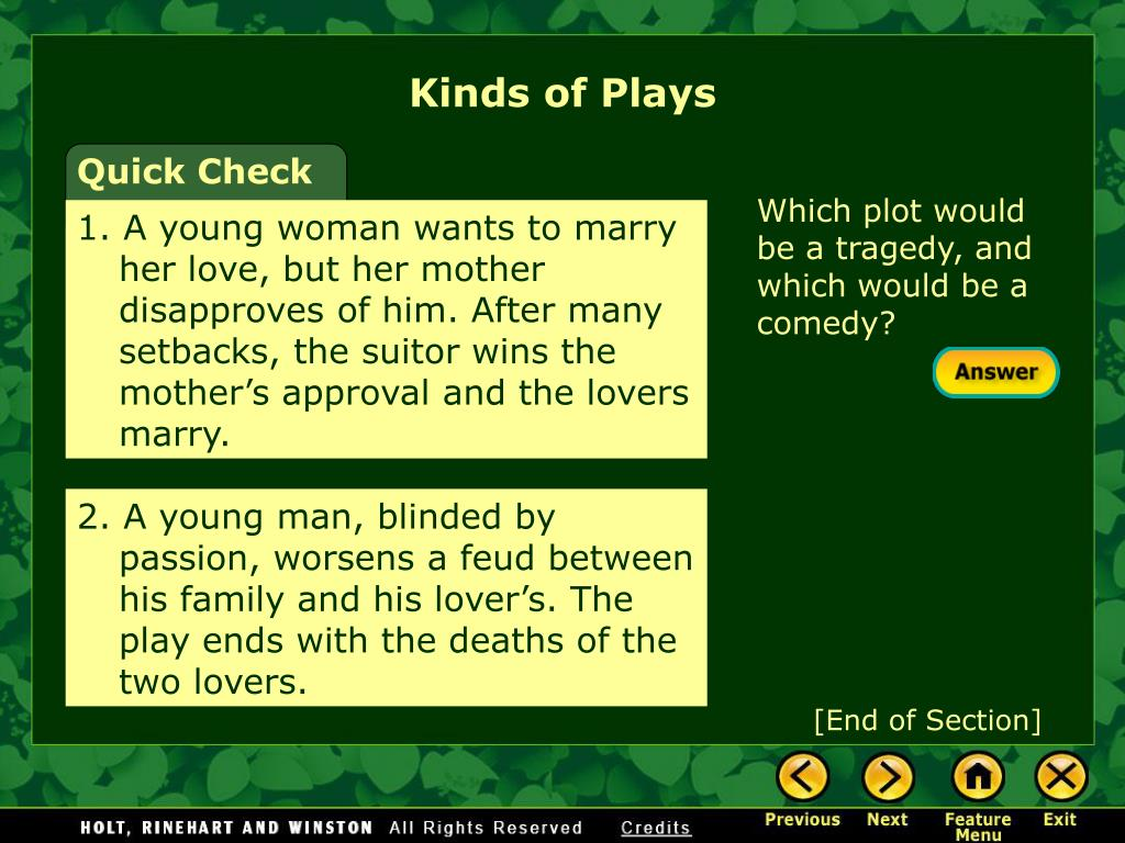 Kinds of Plays