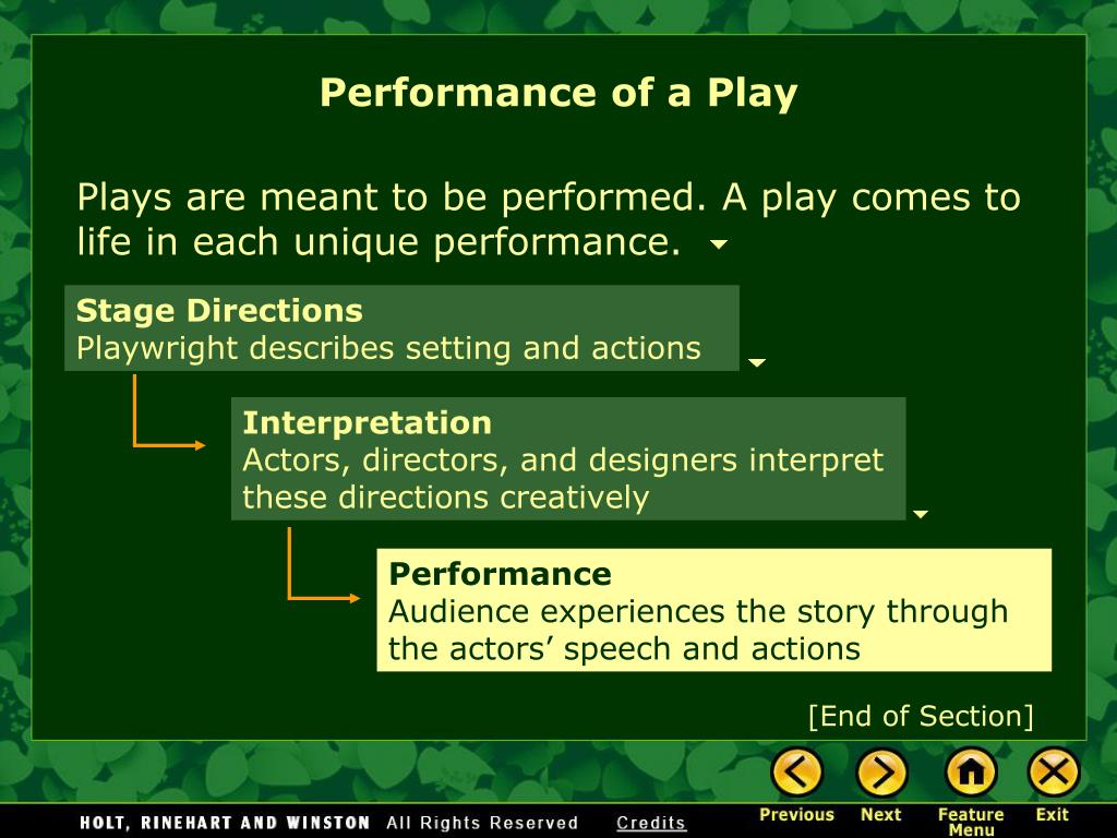 Performance of a Play