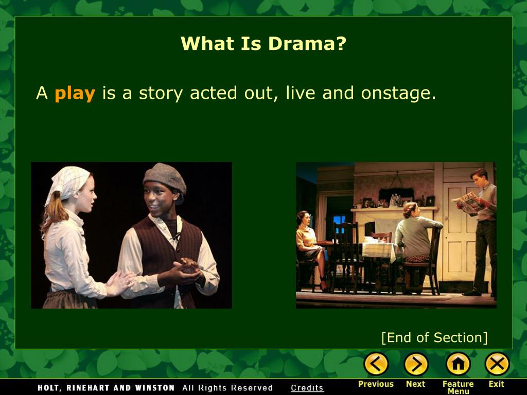 What Is Drama?