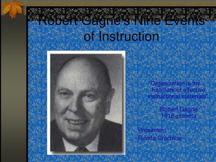 robert gagne s nine events of instruction n.