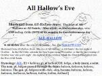 all hallow s eve
