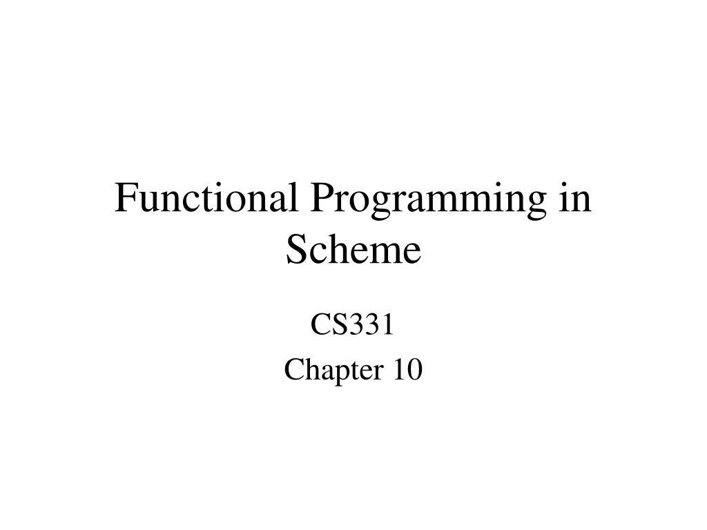 functional programming in scheme l.