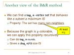 another view of the b r method