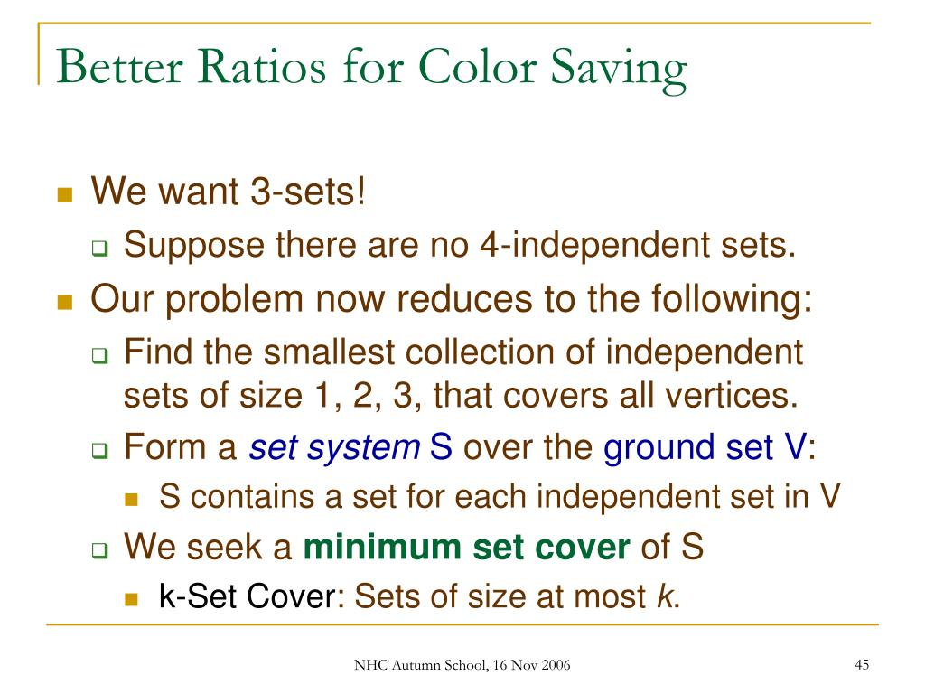 Better Ratios for Color Saving