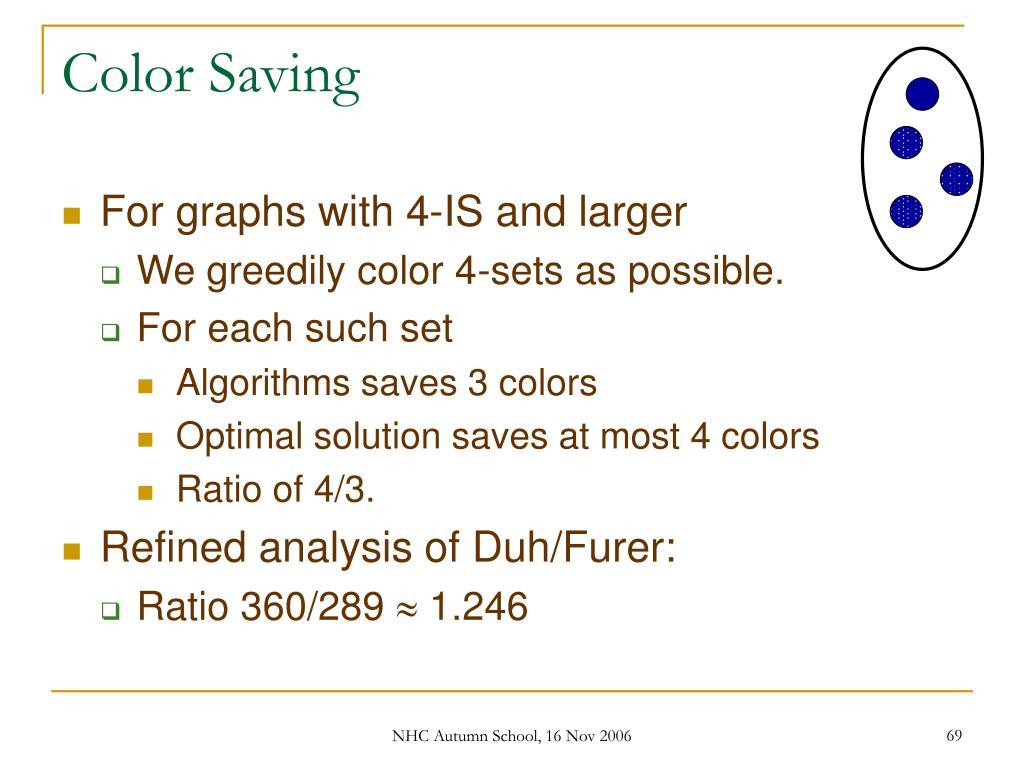 Color Saving