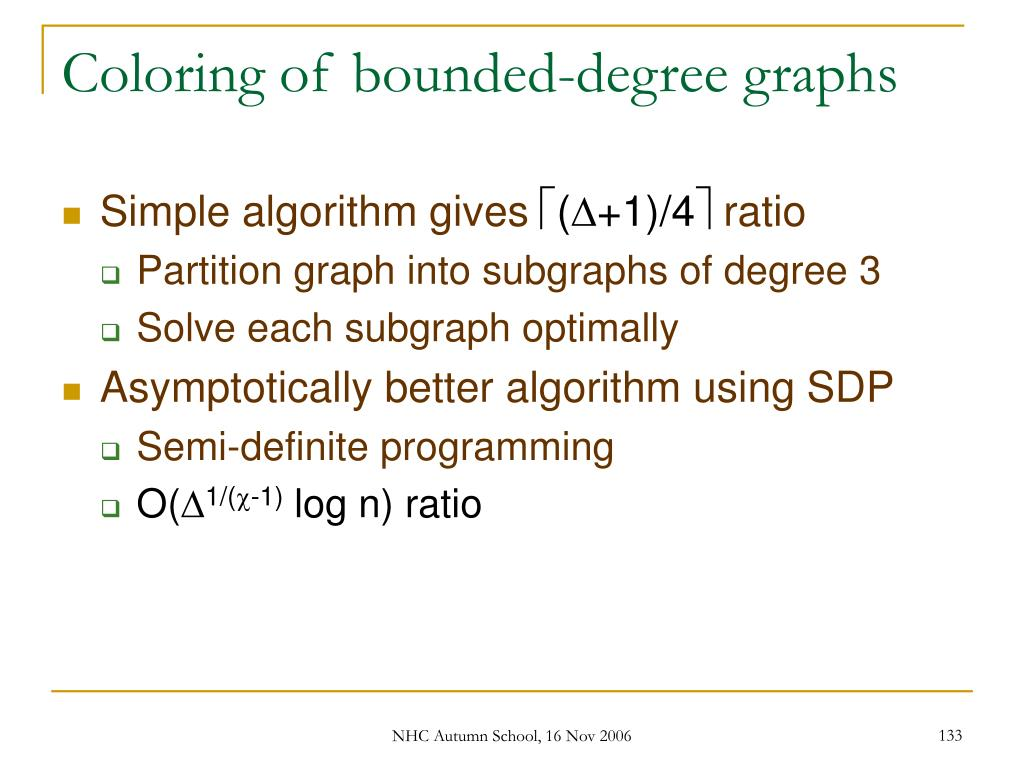 Coloring of bounded-degree graphs