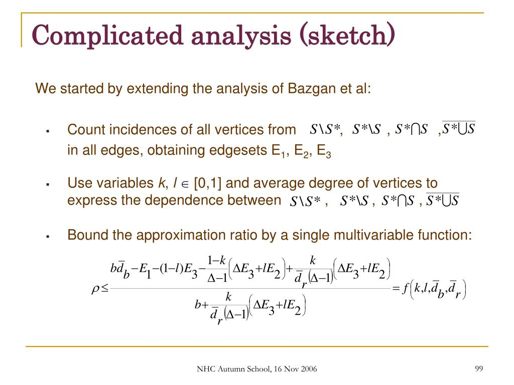 Complicated analysis (sketch)