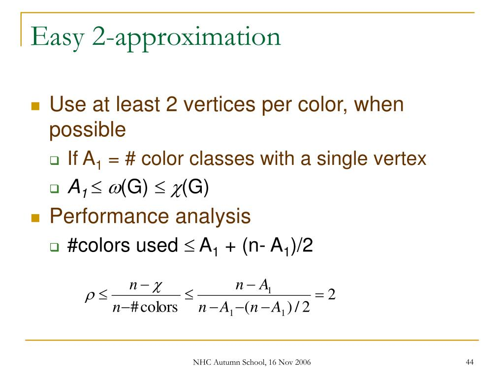Easy 2-approximation