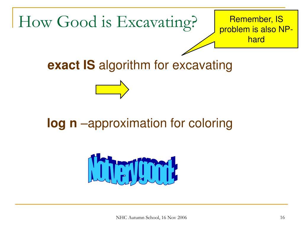 How Good is Excavating?