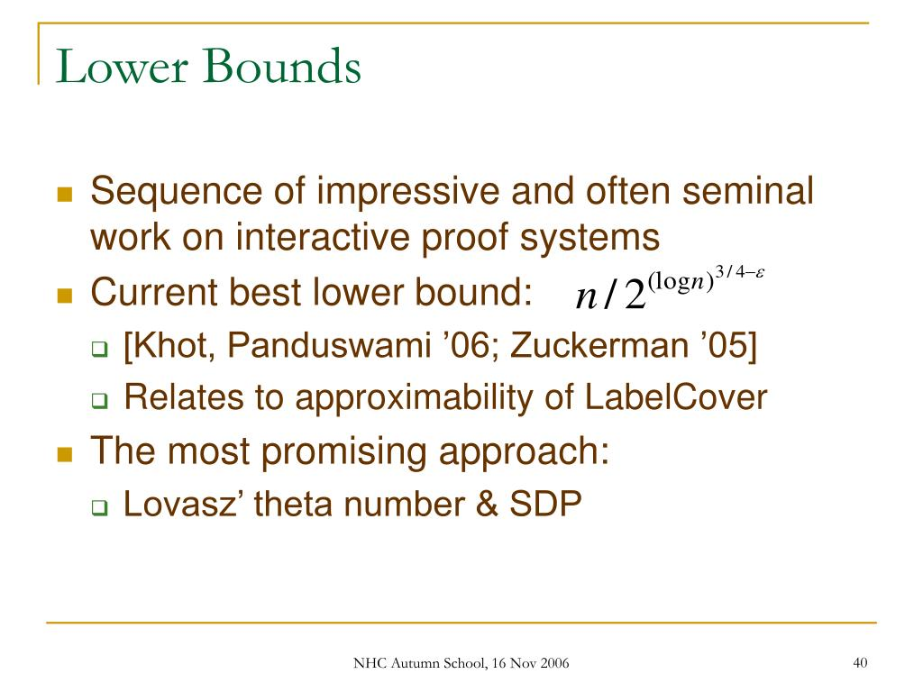 Lower Bounds