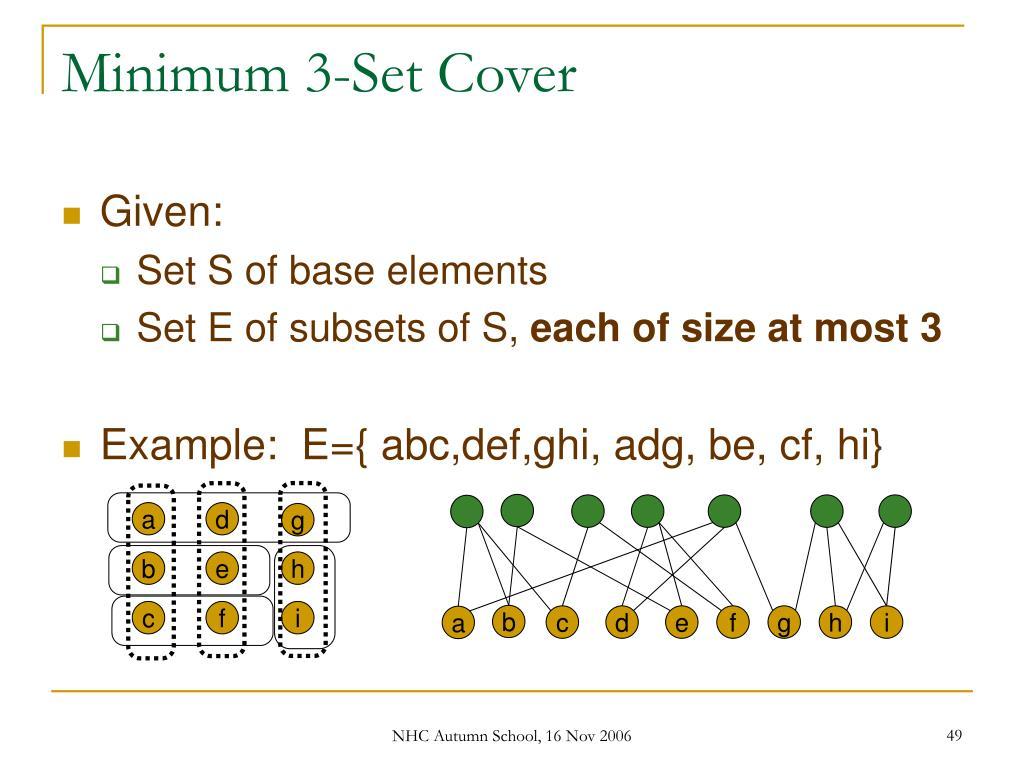 Minimum 3-Set Cover