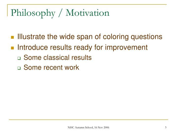 Philosophy motivation