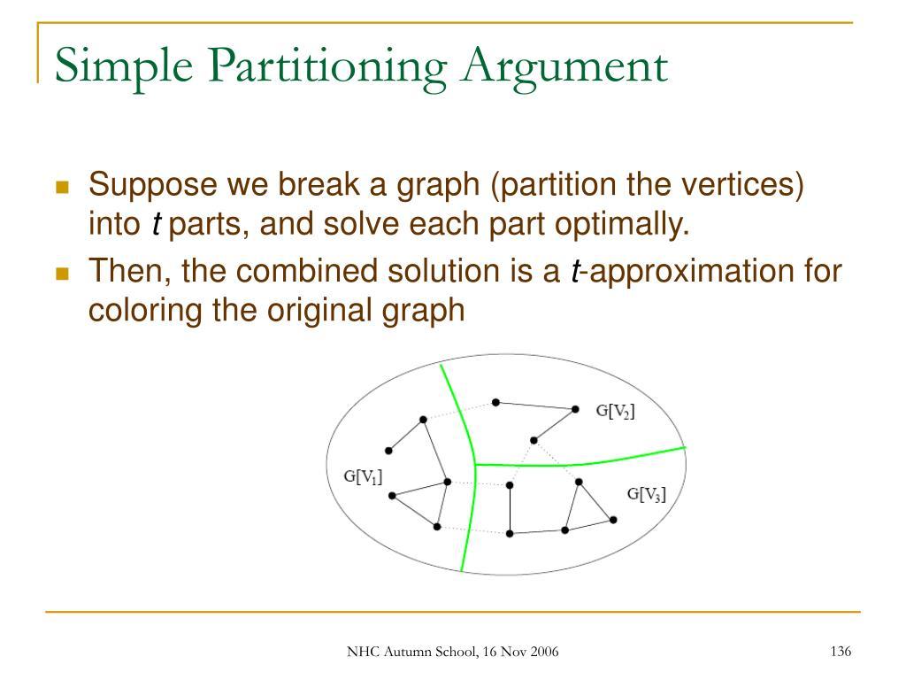 Simple Partitioning Argument