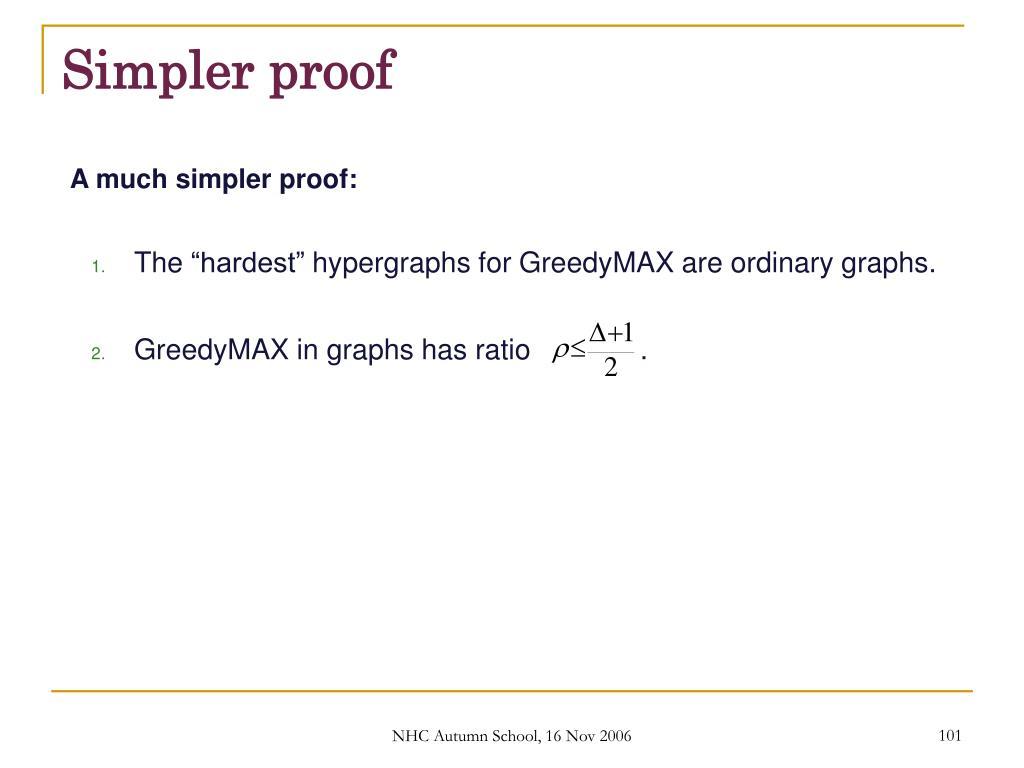 Simpler proof