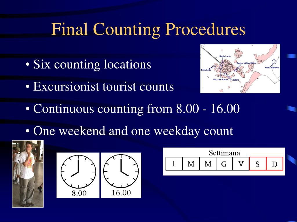 Six counting locations