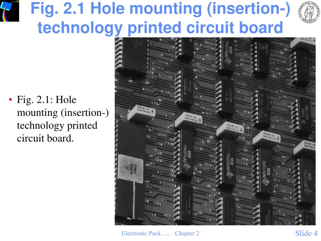 Fig. 2.1 Hole mounting (insertion-) technology printed circuit board