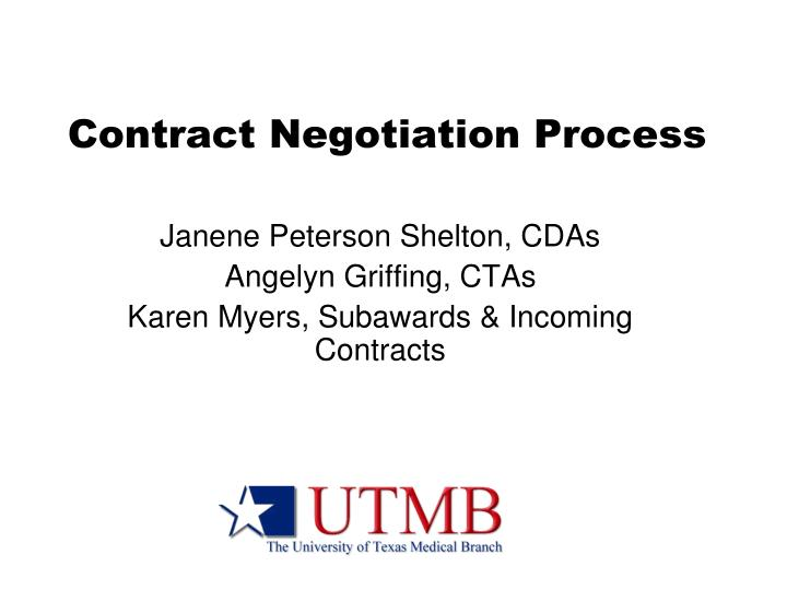 contract negotiation process n.