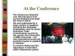 at the conference