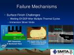 failure mechanisms41