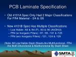 pcb laminate specification