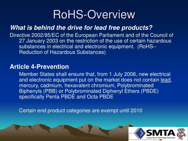 Rohs overview