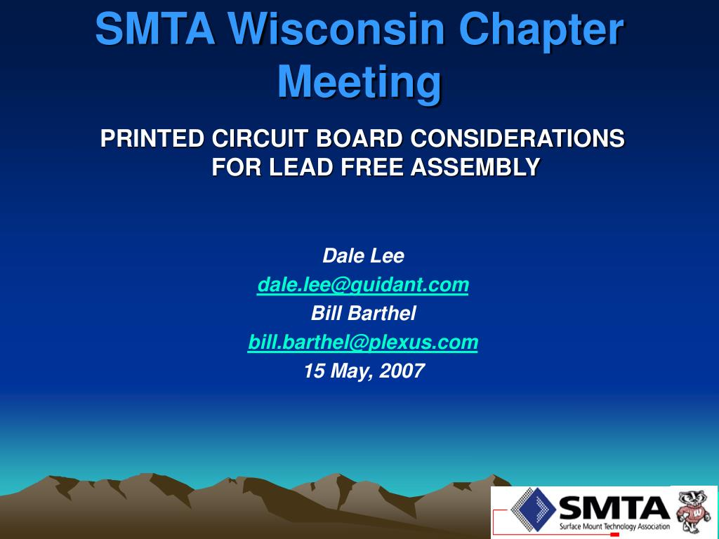 PPT - SMTA Wisconsin Chapter Meeting PowerPoint Presentation - ID:27682