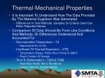 thermal mechanical properties