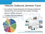 inbound outbound domestic travel