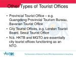 other types of tourist o ffices