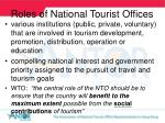 roles of national tourist o ffices