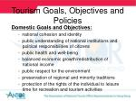 tourism goals objectives and policies14