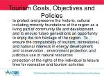 tourism goals objectives and policies15