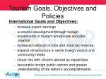 tourism goals objectives and policies16