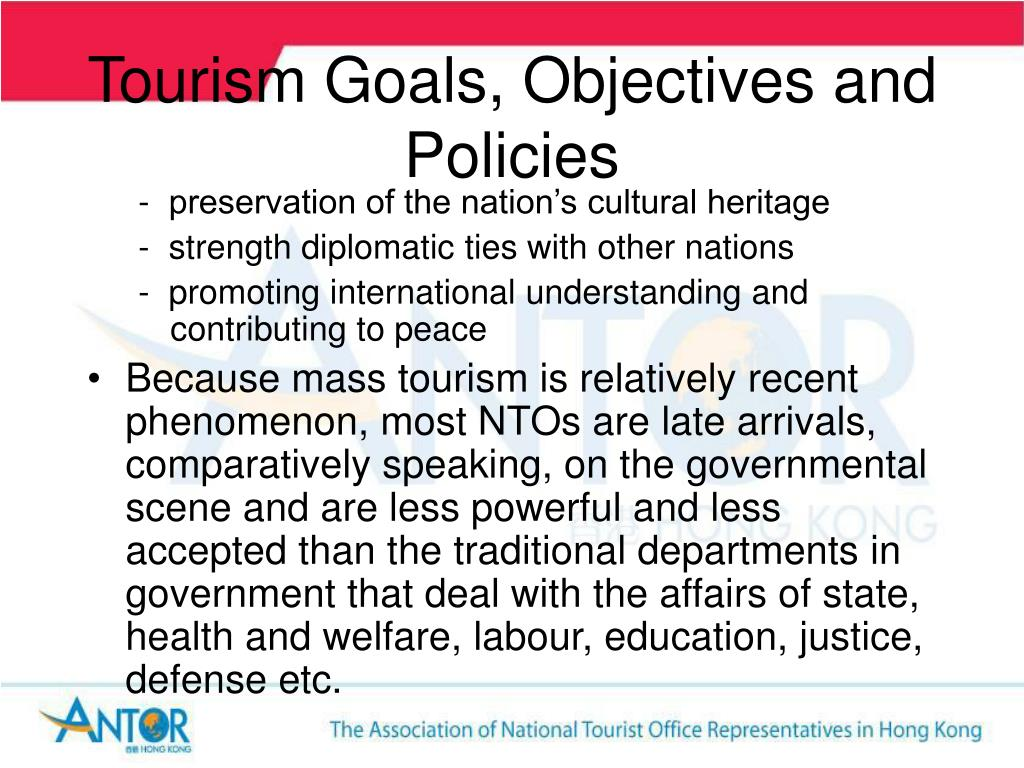 Tourism Goals, Objectives and Policies