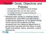 tourism goals objectives and policies17