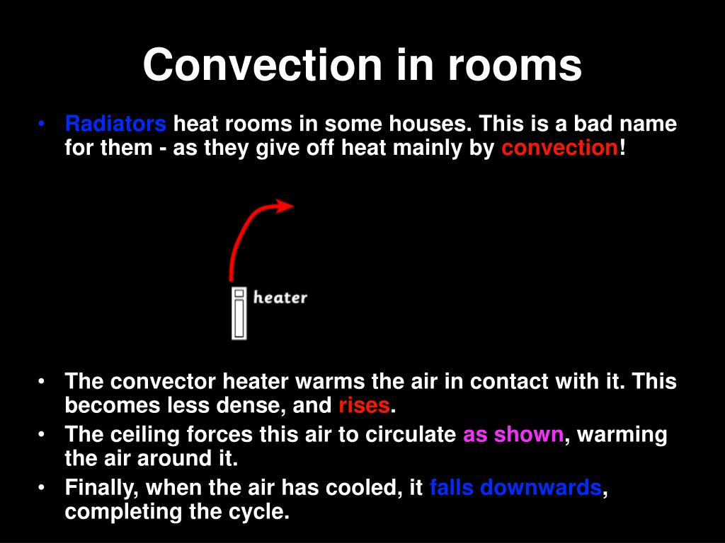 Convection in rooms