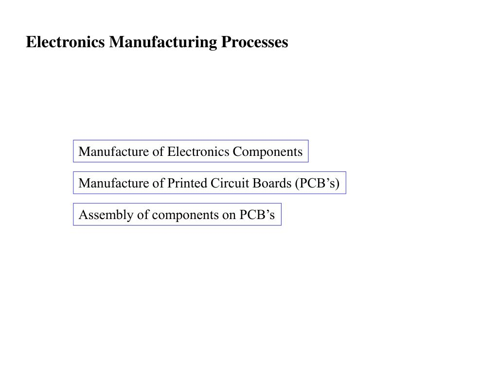 PPT - Electronics Manufacturing Processes PowerPoint