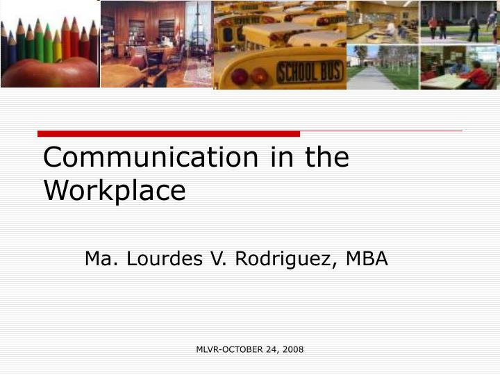 communication in the workplace n.
