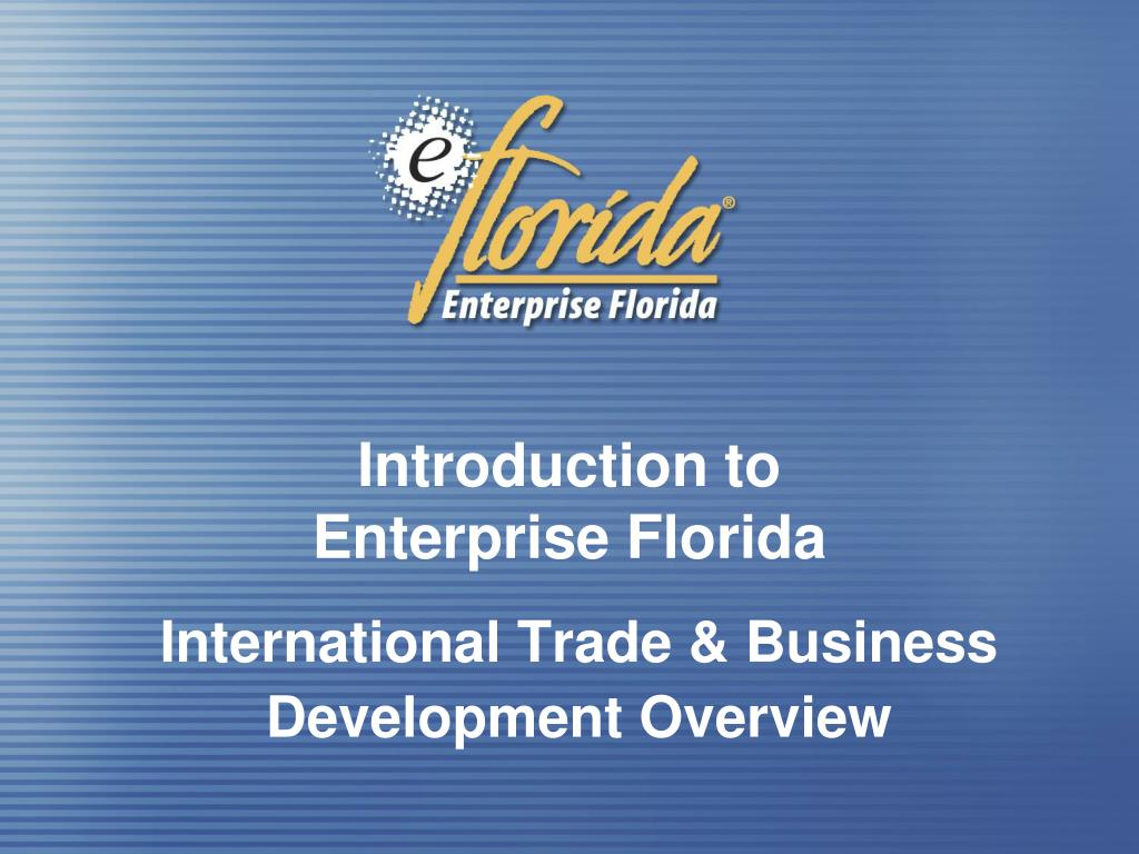 introduction to enterprise florida l.
