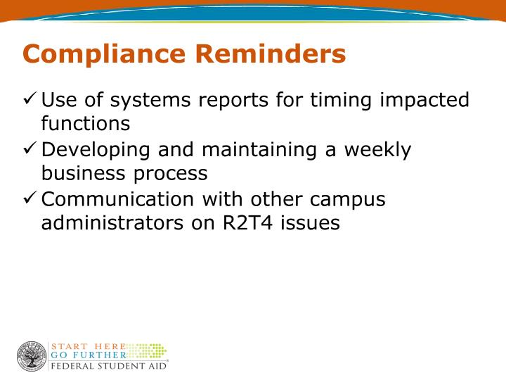 Compliance Reminders