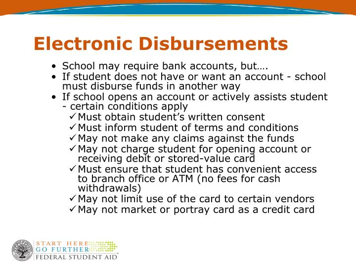 Electronic Disbursements