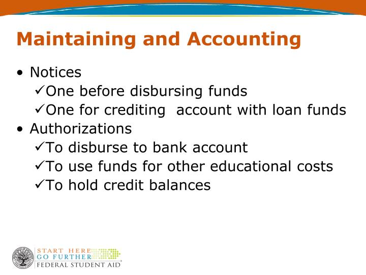Maintaining and Accounting