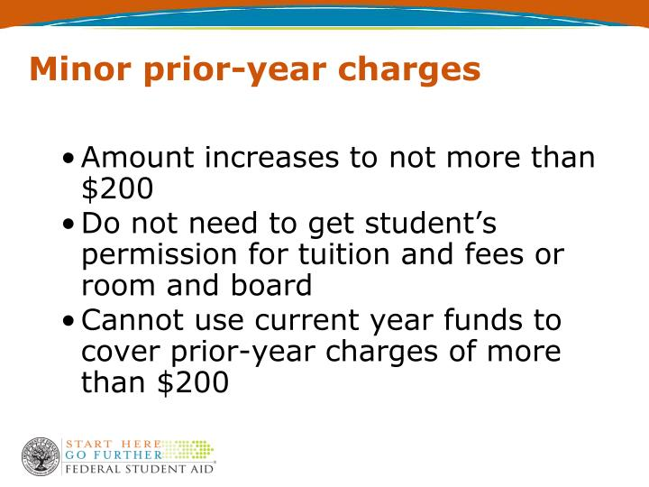 Minor prior-year charges